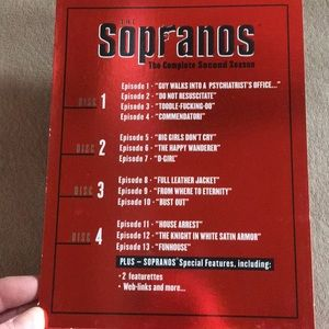 SEASON 2 THE SOPRANOS 📀 DVD SET WATCHED ONCE!